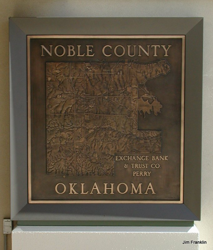 Relief Plaque at Exchange Bank in Perry, Oklahoma